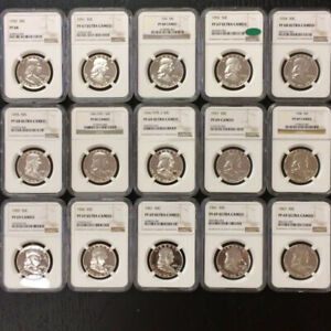 Click now to see the BUY IT NOW Price! THE 4 FINEST NGC FRANKLIN HALF DOLLAR PROOF SET