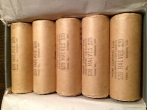 Click now to see the BUY IT NOW Price! 5   40 COIN ROLLS BU FRANKLIN 1/2 DOLLARS IN ORIGINAL BANK BOX LY  @@