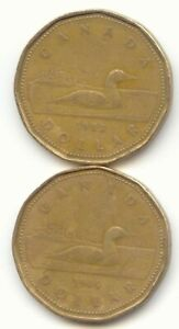 CANADA 1988 1989 LOONIES LOONIE CANADIAN ONE DOLLAR 1 COIN $1 EXACT COINS