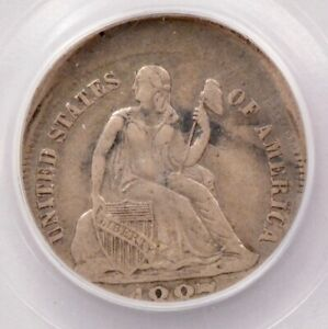PCGS 10C 1887 S SEATED DIME 10  OFF CENTER VF35