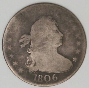 1806 25 CENTS DRAPED BUST QUARTER TYPE 2