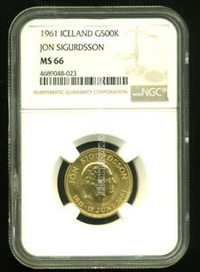 Click now to see the BUY IT NOW Price! ICELAND 1961 GOLD COIN 500 KRONUR   NGC CERTIFIED GENUINE MS 66   SUPERB GEM