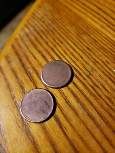 PAIR OF TWO UNITED STATES ONE CENT BLANKS COPPER
