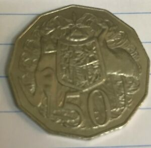 AUSTRALIAN 50 CENT COIN 1984 GOOD CIRCULATED CONDITION