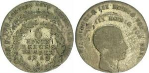 LACK COINAGE PRUSSIA 1/6 THALER 1813 BERLIN DOUBLE SS