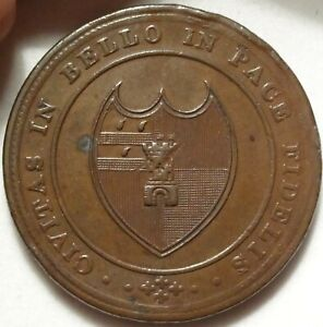 1811 WORCESTER GB HOUSE OF INDUSTRY PENNY 1P TOKEN W 1253 DH 20 OLD PROVENANCE