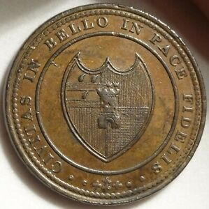 1811 WORCESTER GB HOUSE OF INDUSTRY PENNY 1P TOKEN W 1254 DH 21 OLD PROVENANCE