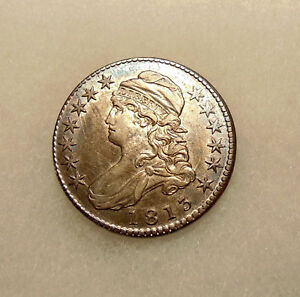 1813 CAPPED BUST HALF   O.105   SHARP LOOKING AU COIN