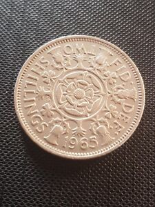 1965 FLORIN 2/  TWO SHILLINGS COIN FREE UK P&P