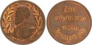 MEDAL PRUSSIA: BY THE ROCK TO THE SEA WILHELM IV 1848/49 HOHENZOLLERISCHE XF