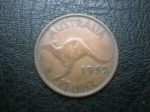 AUSTRALIA 1952   KING GEORGE VI   ONE PENNY COIN   CIRCULATED