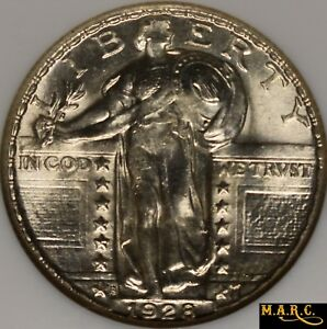 1928 S MS65 NGC 25C STANDING LIBERTY QUARTER BRIGHT AND LUSTROUS  TONE FREE