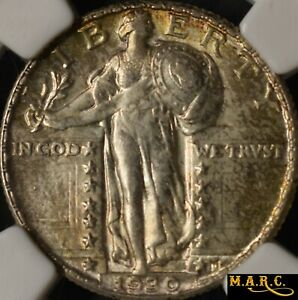 1930 MS63FH NGC 1$ STANDING LIBERTY QUARTER SLIGHT TONING    MARC