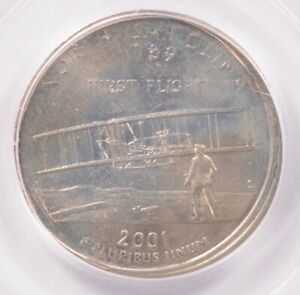 Click now to see the BUY IT NOW Price! PCGS 25C 2001 P NORTH CAROLINA QUARTER DOUBLE STRUCK AU58