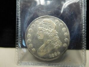 1834 CAPPED BUST HALF DOLLAR LARGE DATE FINE  20267 HALF OY