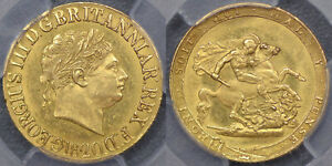 GREAT BRITAIN 1820 SOVEREIGN   PCGS MS62