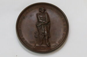 NETHERLANDS 1852 MEDAL UNVEILING REMBRANDT MEMORIAL IN AMSTERDAM BY BC HART B19
