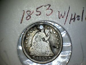 1853 SILVER  HALF DIME WITH ARROWS AT DATE LOT 1B