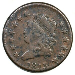 1813 S 292 R 2 CLASSIC HEAD LARGE CENT COIN 1C