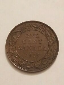 1919 CANADA LARGE CENT COIN 1C