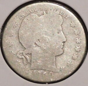 BARBER QUARTER   1900 S   HISTORIC SILVER    $1 UNLIMITED SHIPPING.