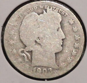 BARBER QUARTER   1903 O   HISTORIC SILVER    $1 UNLIMITED SHIPPING.