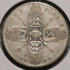 BRITISH FLORIN   1923   OVERSTOCK SALE    $1 UNLIMITED SHIPPING  36
