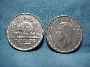 1937  DOT  CANADA FIVE CENTS 13 AVAILABLE