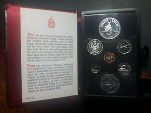 1975 CANADIAN 7 COIN PROOF SET IN CASE