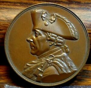PRUSSIA MEDAL 1851 DEDICATION OF THE MONUMENT  TO KING FREDERICK THE GREAT