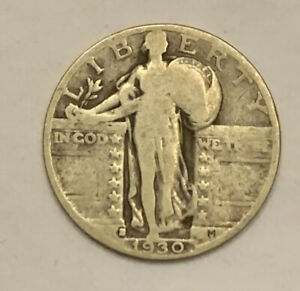 1930 S STANDING LIBERTY QUARTER 90  SILVER NICE COIN