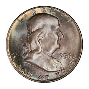 Click now to see the BUY IT NOW Price! 1956 50C FRANKLIN HALF DOLLAR PCGS MS67 FBL  CAC  3151 23 POP 3 0