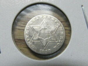 XF 1858 3 CENT SILVER   A NICE TYPE COIN    DEE