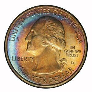 2014 D  AMERICA THE BEAUTIFUL BLUE & BROWN  TONED TONING 4.119