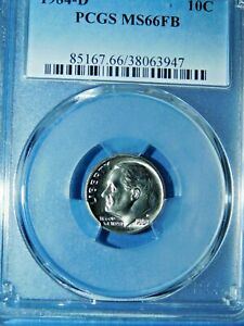 Click now to see the BUY IT NOW Price! 1984 D 10C FULL BAND ROOSEVELT DIME PCGS MS66FB  528 1