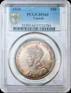 Click now to see the BUY IT NOW Price! 1935 CANADA 1 DOLLAR PCGS MS 66