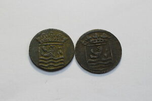 NETHERLANDS USA COLONIAL DUTCH NY SHIPWRECK DUIT 1736/53 B18 XD46