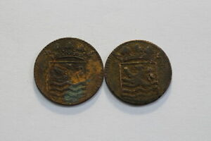 NETHERLANDS USA COLONIAL DUTCH NY SHIPWRECK DUIT 1737/45 B18 XM5