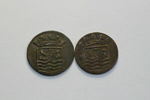 NETHERLANDS USA COLONIAL DUTCH NY SHIPWRECK DUIT 1736/37 B18 XH44