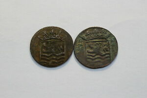NETHERLANDS USA COLONIAL DUTCH NY SHIPWRECK DUIT 1736/37 B18 XC47