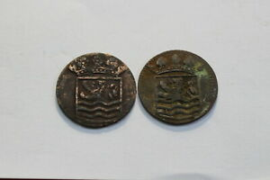 NETHERLANDS USA COLONIAL DUTCH NY SHIPWRECK DUIT 1736/37 B18 XC45