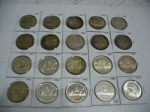 Click now to see the BUY IT NOW Price! LOT OF  20 1939 1967  CANADA  SILVER  1$ ONE DOLLAR  COINS  SILVER  GOOD GRADES