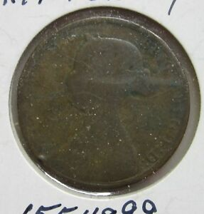 1861 UK GREAT BRITAIN HALF PENNY G