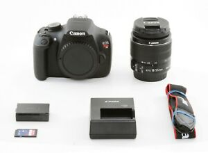 CANON EOS REBEL T5 18.0MP DSLR   EF S 18 55MM IS II FREE EXPEDITED SHIPPING 1