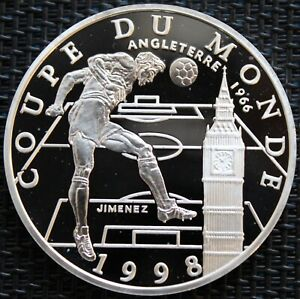 FRANCE 10 FRANCS BE SILVER COUPE DU MONDE FRANCE 1998 ENGLAND