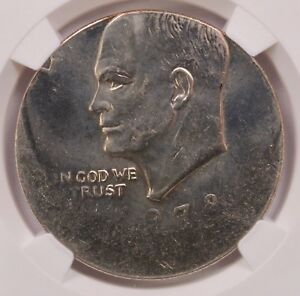 Click now to see the BUY IT NOW Price! NGC $1 1978 IKE DOLLAR STRUCK 20  OFF CENTER MS 63
