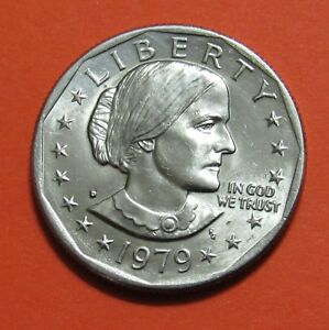 1979 D $1 SUSAN B. ANTHONY DOLLAR COIN   UNCIRCULATED FROM MINT ROLL