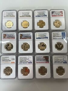Click now to see the BUY IT NOW Price! SET OF 12 SACAGAWEA $1 COINS NGC PF 70 UC ENHANCED REVERSE PF DIFFERENT LABELS