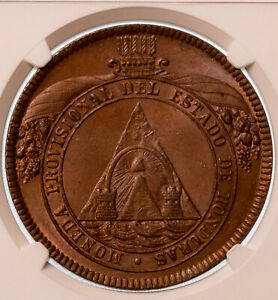 Click now to see the BUY IT NOW Price! HONDURAS REPUBLIC PROVISIONAL 8 PESOS 1862 T A NGC MS64 BROWN UNIQUE DESIGN