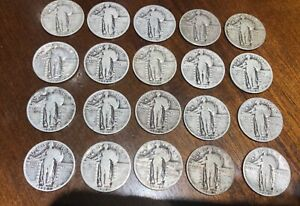 STANDING LIBERTY QUARTER DATES 90  SILVER CONSTITUTIONAL JUNK ONE COIN RANDOM